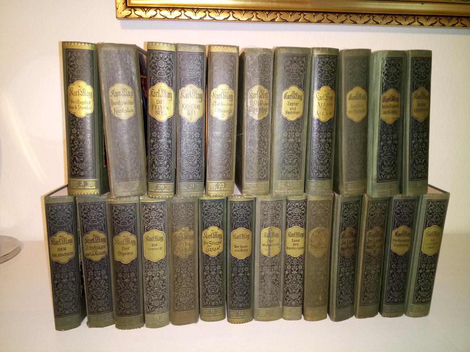 Karl May Bücher 25 versch.Ausgaben u. Zustand , alt , Radebeul , Bamberg...