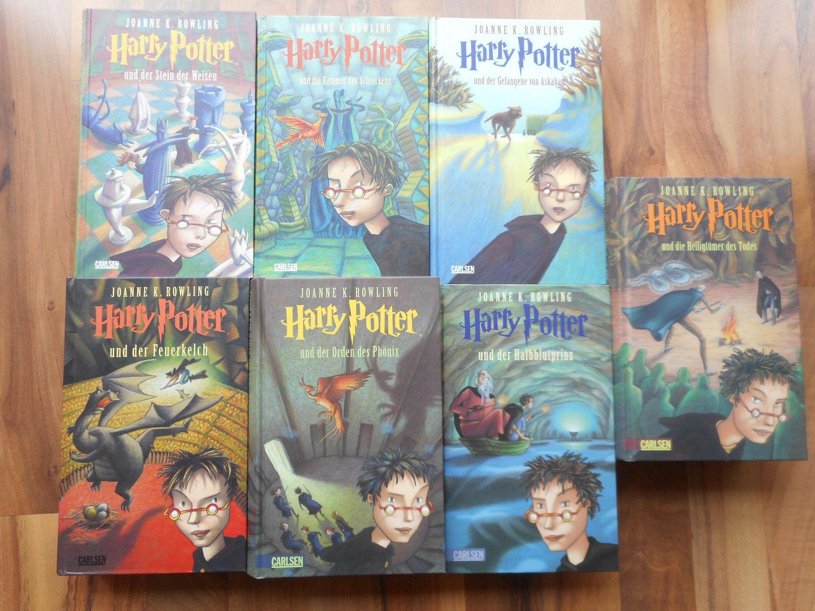 Harry Potter Bücherpaket mit allen 7 Fantasy-Romanen, Deutsch, guter Zustand