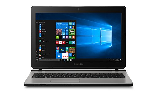 Medion Akoya E6429 MD 60107 39,6 cm (15,6 Zoll mattes HD Display) Notebook (Intel Core i5-6200U, 8GB RAM, 1TB HDD, 128GB SSD, Intel HD-Grafik, DVD RW, Windows 10) silber