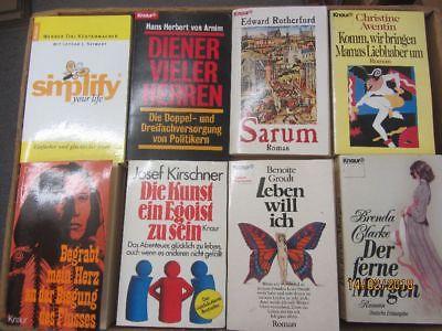 90 Bücher Taschenbücher Knaur Verlag Paket 1