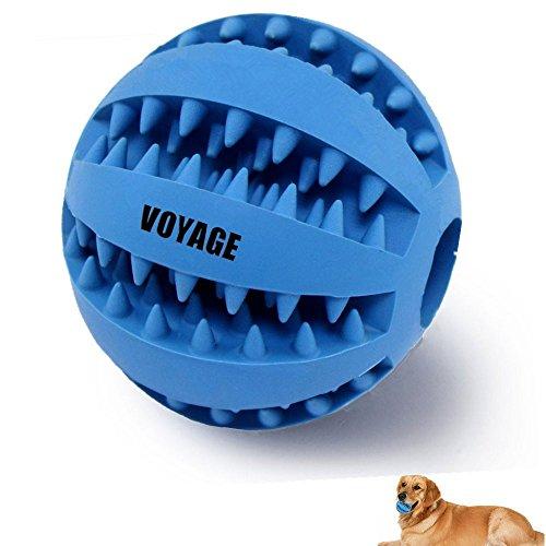 Hundespielzeug Ball von Voyage aus Naturkautschuk | Spielzeug für Hunde | Robuster Natur-Gummi Hundeball für Leckerli | Langlebiger Hundespielball | Auch für Welpen | Kauspielzeug | Spielzeug für Große & Kleine Hunde | Voll-Gummi Hunde-Frisbee, ø 7cm mit