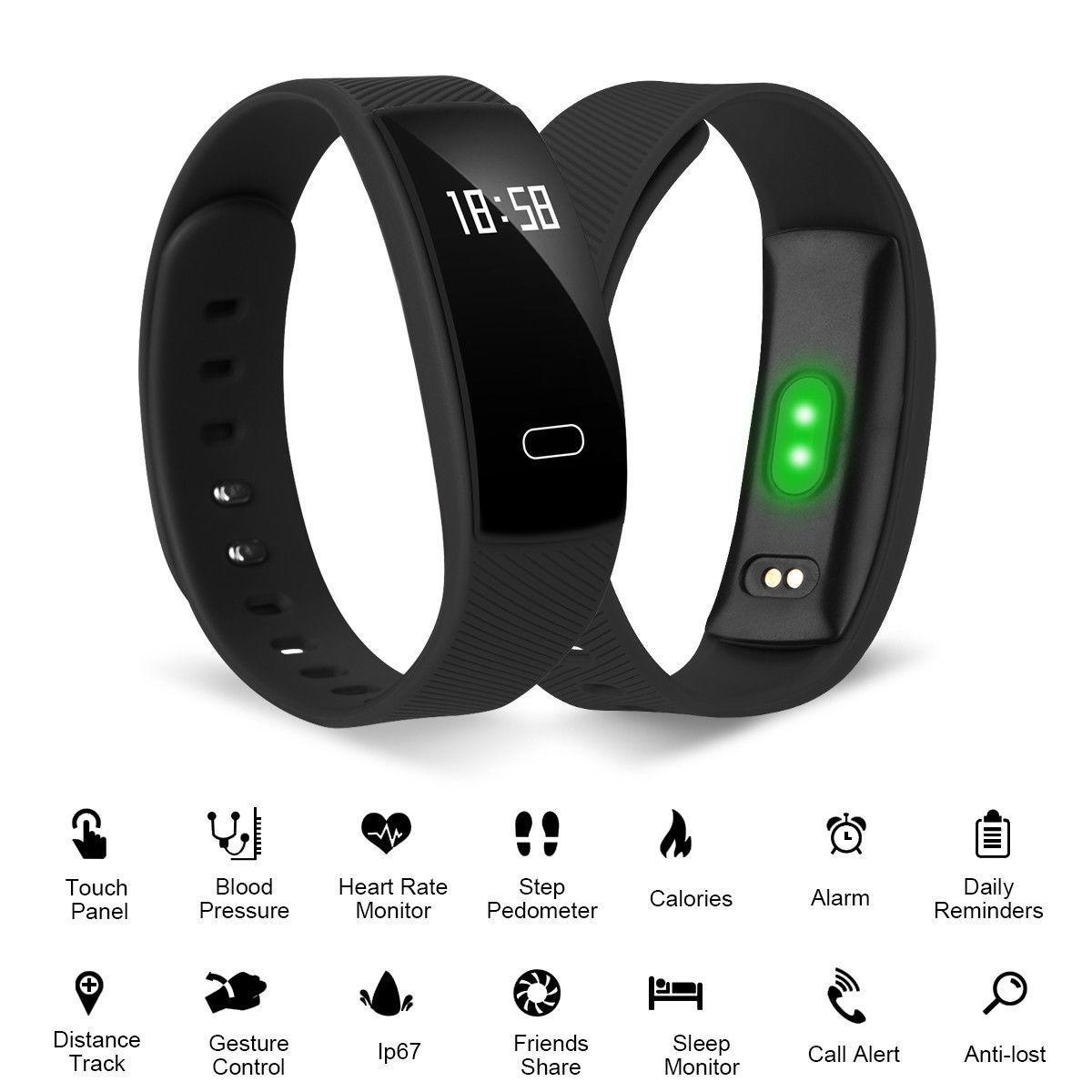 Wasserdicht Bluetooth SmartWatch Armband Uhr Handy Pulsuhr Sport Fitness Tracker