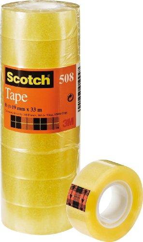 Scotch 5081933 Klebeband (33 m x 19 mm) 8 Rollen transparent