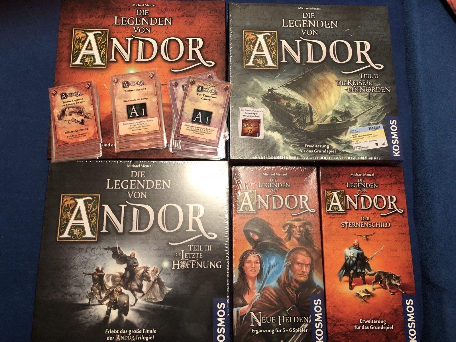 Die Legenden von Andor + Reise in den Norden + Letzte Hoffnung + Erweiterungen