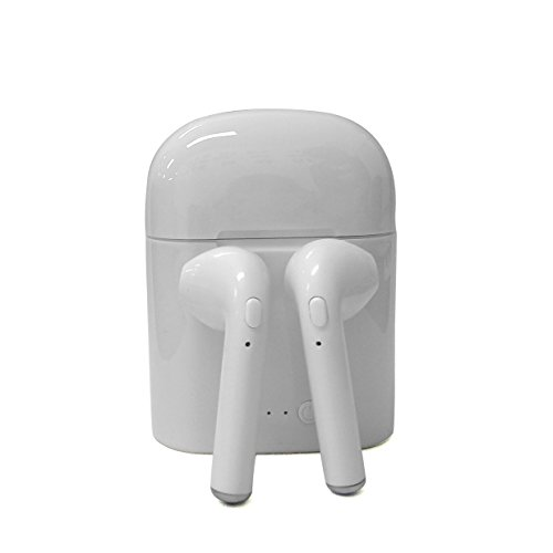 On EarKopfhörer Bluetooth,Kopfhörer Bluetooth Box, Bluetooth-Kopfhörer,Bluetooth in Ear kopfhörer für Apple iPhone 7/7 Plus/6S/6S Plus, iPad, Samsung, kabellos V4.2 + EDR, 1 Paar,Weiß