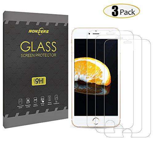 Panzerglas für iPhone 6/6S ,3 Stück NONZERS 3D Touch Kompatibel,9H Härtegrad,Blasenfrei Einfache Montage, Anti-Öl,Kratzer,Blasen,Staub und Anti-Fingerabdruck Panzerglas Schutzfolie für iPhone 6 6s(4,7 Zoll)