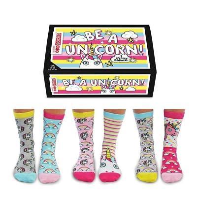 Socken Sei ein Einhorn Oddsocks in 37-42 Strümpfe Einhorn Oddsocks im 6er Set