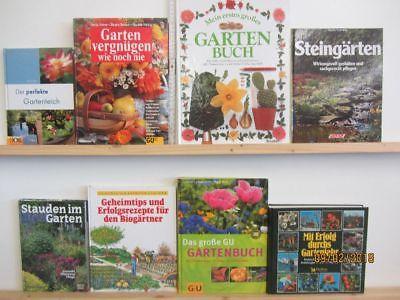 35 Bücher Garten gärtnern Gartengestaltung Gartenpflege Gartenkunst