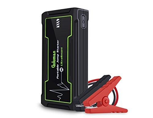 Guluman Tragbare Auto Starthilfe 800A 16800mAh 12V PKW/LKW tragbare Batterie Starthilfe Jump Starter Powerbank, Startet Fahrzeuge mit einem Hubraum bis zu 8.0 Liter (Benzin) und bis 6.0 Liter (Diesel)