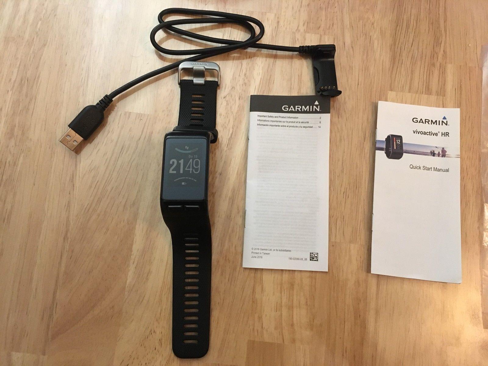 Garmin Vivoactive HR GPS-Smartwatch mit Herzfrequenzmessung am Handgelenk