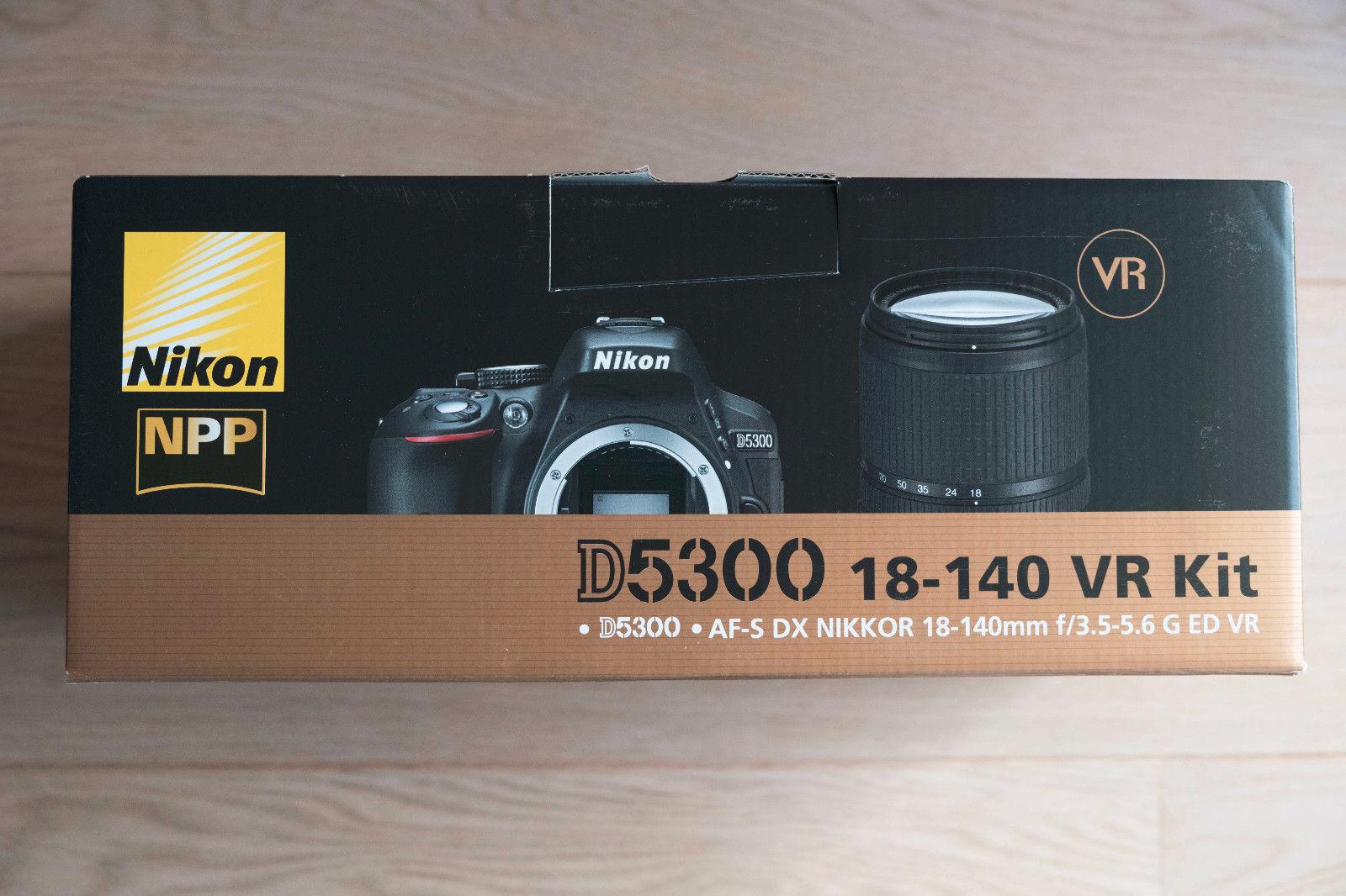 Nikon D D5300 + AF-S DX 18-140mm 3,5-5,6 G ED VR **Gebraucht**OVP**