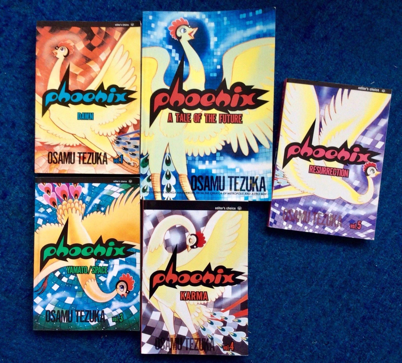 Phoenix Vol. 1-5 Manga Osamu Tezuka