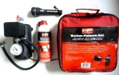 Reifen Pannen Set mit Kompressor  Reifen Reparatur Set Reifen-Doktor