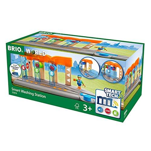 BRIO World 33874 - Smart Tech Waschanlage für Züge