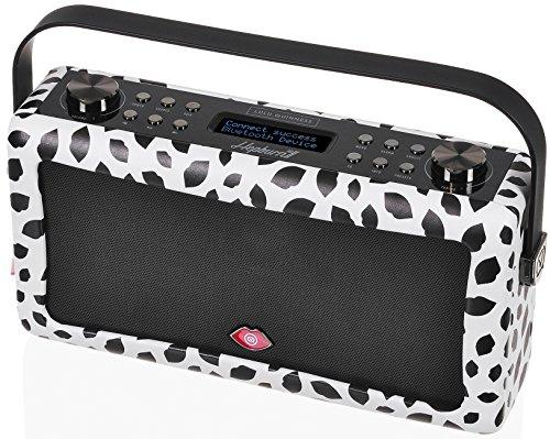 VQ Hepburn Mk II DAB/DAB+ Digital- und FM-Radio mit Bluetooth und Weckfunktion - Lulu Guinness Schwarze Lippen