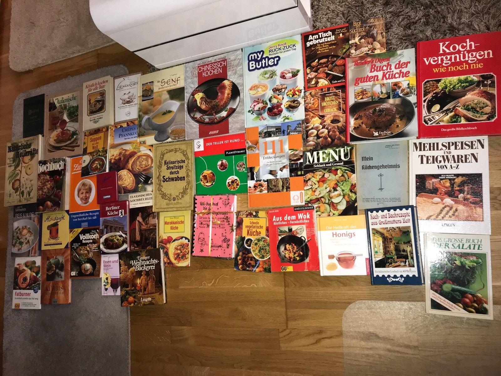 Büchersammlung 40 x Kochbücher kochen backen vegetarisch Gesund Paket Konvolut