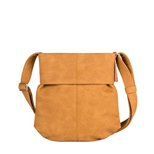 ZWEI Mademoiselle Umhängetasche Ocker Orange Damen Handtasche 25x30x8 cm