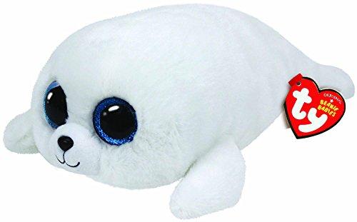 TY 37046 - Icy Buddy - Robbe mit Glitzeraugen, Plüschtier, groß, 24 cm, weiß