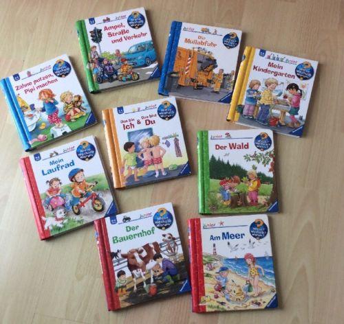9 Bücher Wieso Weshalb Warum junior 2-4 Jahre Ravensburg - guter Zustand!!!