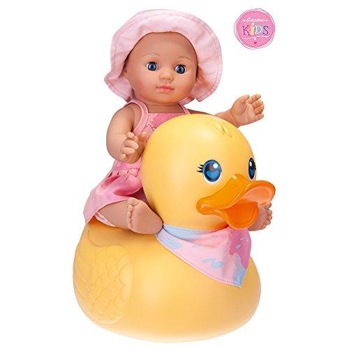 Schildkröt 610300002 - Kids Badepuppe Girl mit Schwimmente, 30 cm