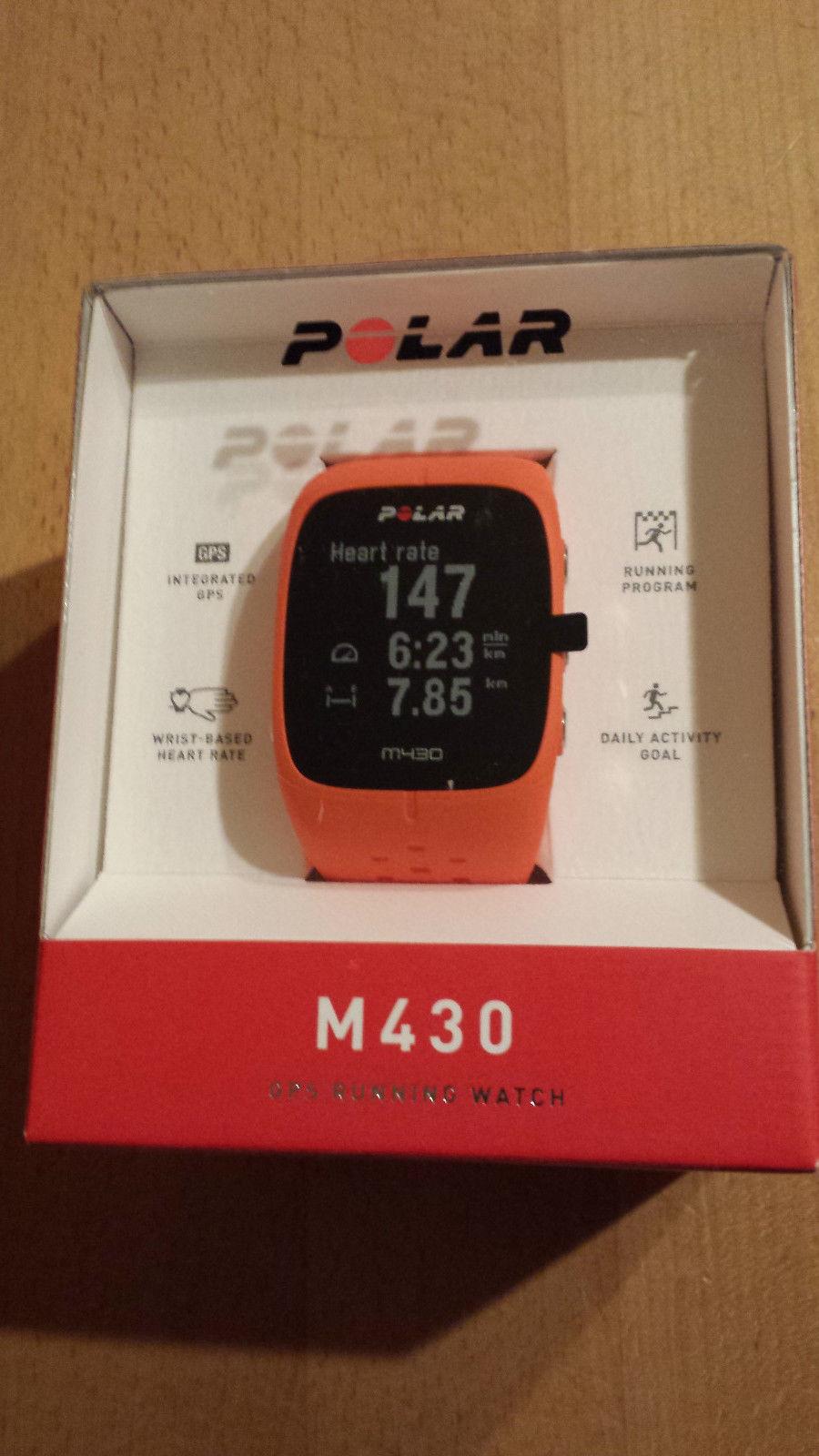 Polar M430 GPS-Laufuhr Pulsuhr orange NEU OVP Versiegelt mit Rechnung NEU OVP