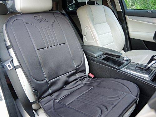 Sitzheizung für den BEIFAHRER – beheizbare Sitz-Auflage 12V fürs Auto zum Nachrüsten | schnelle angenehme Wärme | MY HEATER TO GO | 2-stufiger Wärmeregler | das universal Heizkissen ist schnell montiert