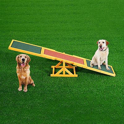 PawHut Hundewippe Hunde Agility Wippe Welpenspielzeug Hundesport