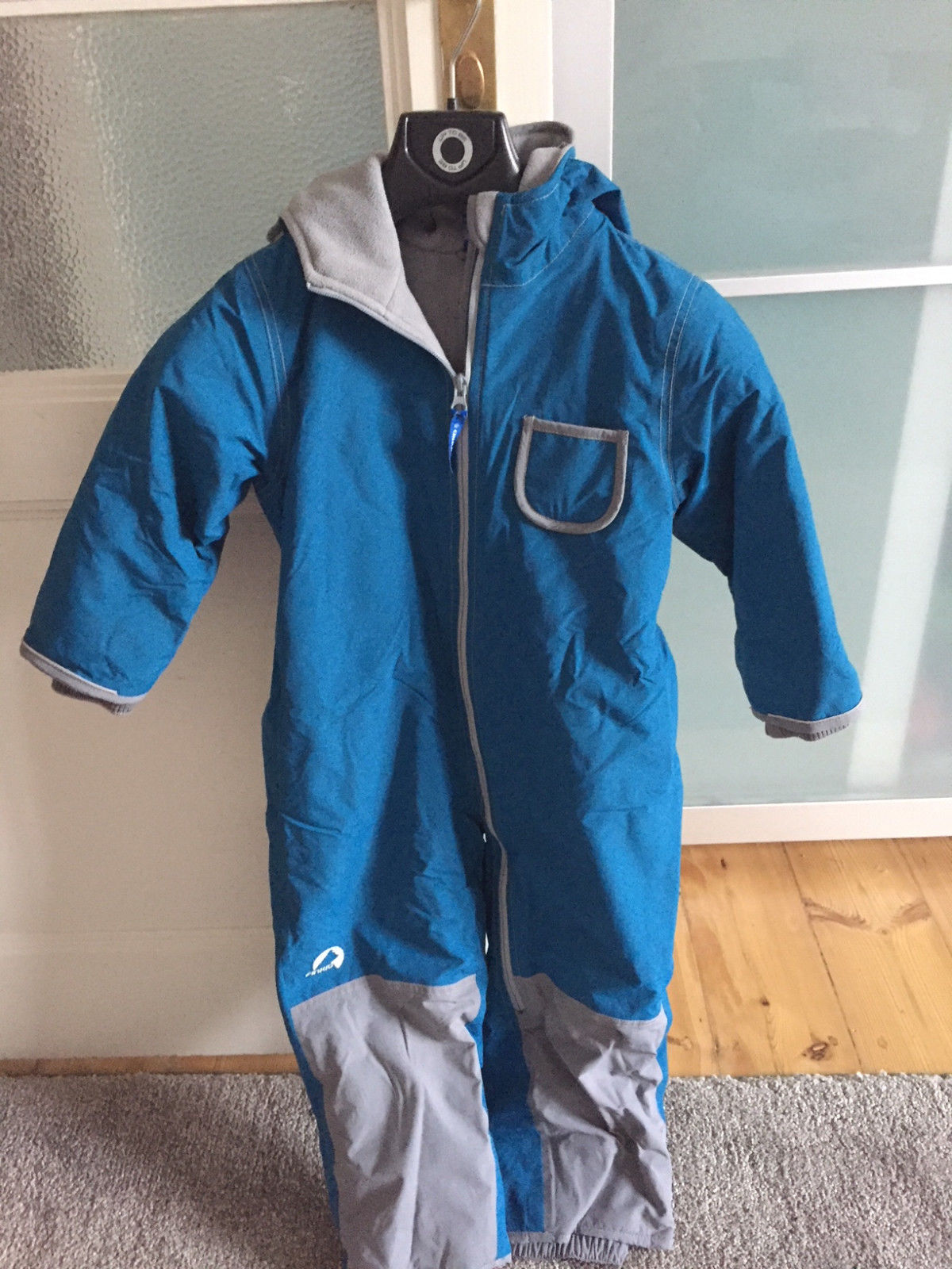 FINKID Winter Schneeanzug Gr. 110/120 blau/grau