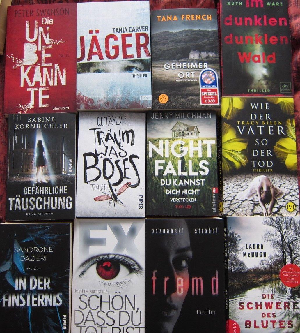 Bücherpaket 12 Thriller tania carver-peter swanson-tracy.bilen-ruth ware-laura