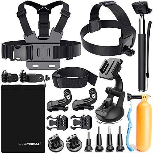 Zubehör für Gopro Hero 6 5 4, Action Kamera Zubehör Set für Go Pro Hero Session 5 3 2 1 Black AKASO EK7000 Apeman und die Meisten Sport Kamera von LUSCREAL.