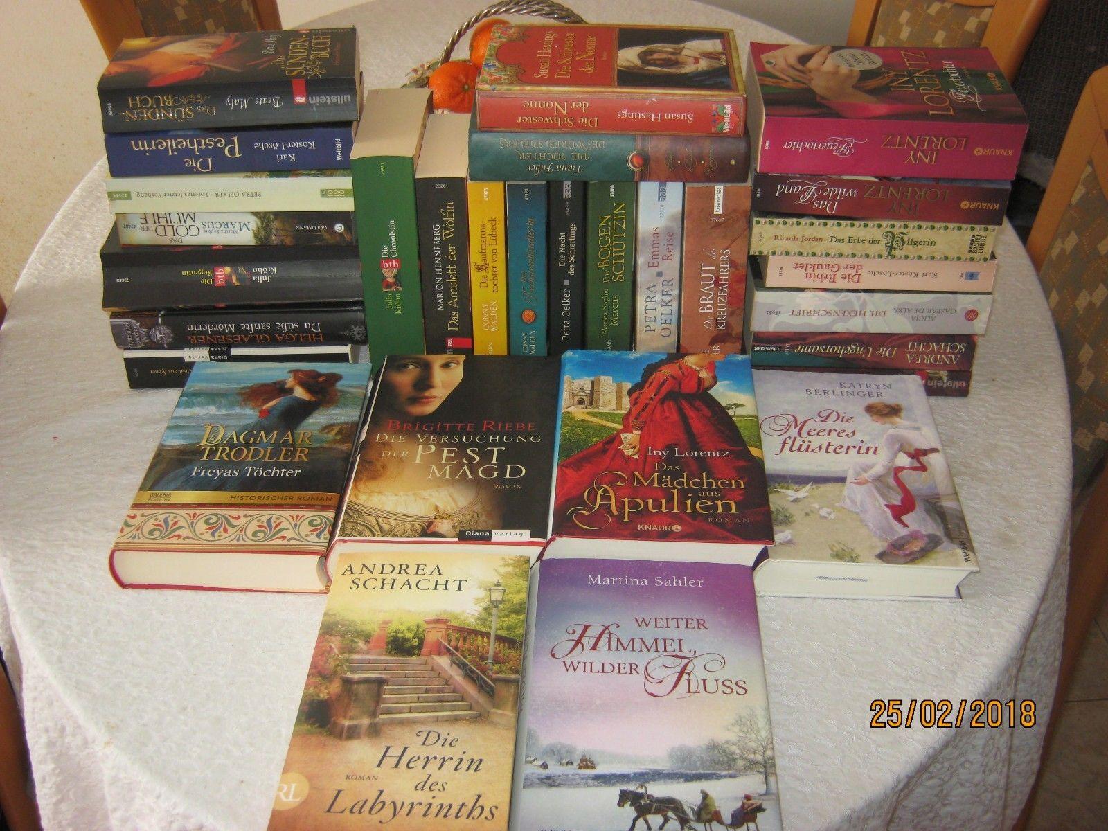 30 Historische Romane Bücherpaket Bekannte Autoren Lorentz, Sahler, Schacht usw