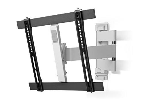 Ultra Slim TV-Wandhalterung von One For All Drehen (180°) und Neigen (20°)- Wandhalterung - TV-Bildschirmgröße 32-60 Zoll - Für alle TV-Gerätetypen - Schwarz Weiß - WM6451