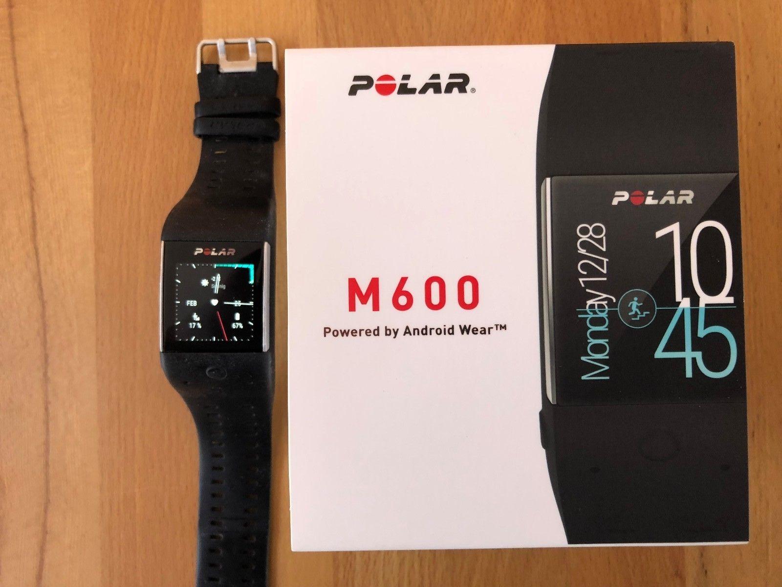 Polar M 600 Smartwatch, Pulsuhr, Laufuhr, schwarz