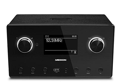 Medion P85080 MD 87523 WLAN Internet-Radio (DAB+, UKW, Bluetooth, USB, Spotify, AirPlay, Multiroom, AUX) schwarz