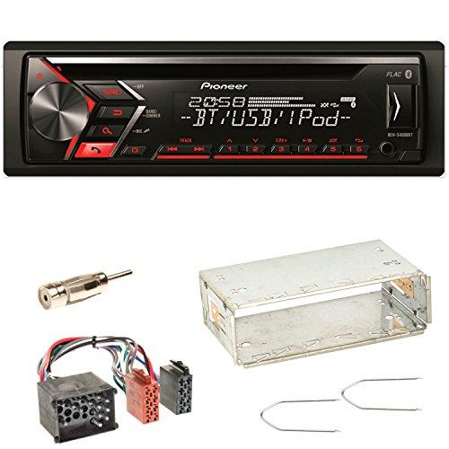 Pioneer DEH-S4000BT Autoradio USB AUX 1-DIN CD iPod MP3 Bluetooth WMA Einbauset für BMW 3er E36 Z3