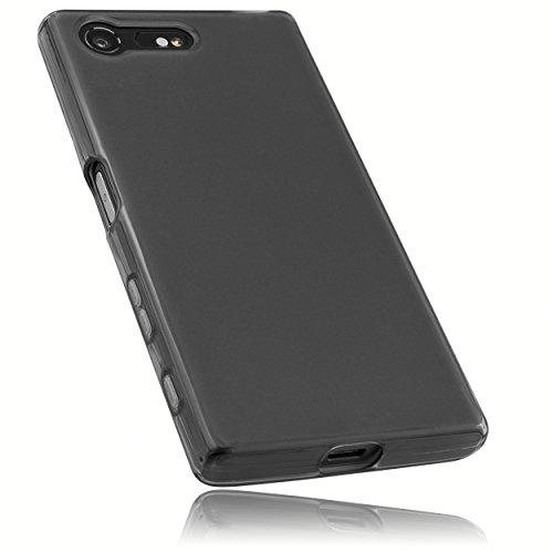mumbi Schutzhülle für Sony Xperia XCompact Hülle transparent schwarz