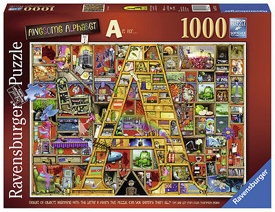 RAVENSBURGER PUZZLE*1000 TEILE*COLIN THOMPSON*AWESOME ALPHABET