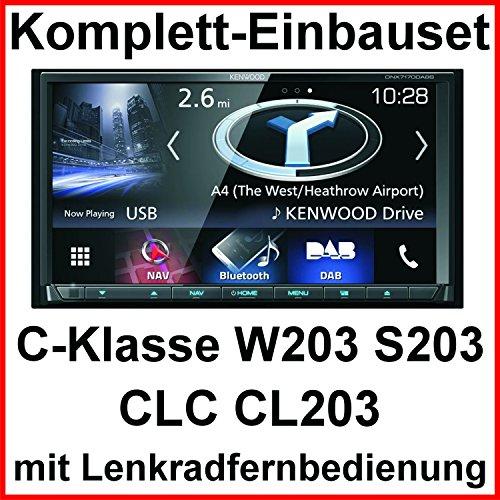Komplett Set Mercedes C-Klasse W203 CLC CL203 S203 Kenwood DNX-7170DABS Navigation CD DVD Bluetooth Carplay Android Auto USB MP3 Digitalradio Autoradio