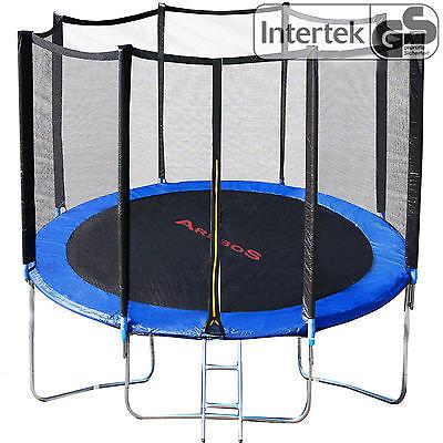 Trampolin 244 cm mit Leiter Gartentrampolin Outdoor Trampolin mit Netz Leiter