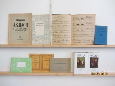 80 Bücher Hefte Noten Notenbücher Notenhefte Partituren teilweise antiquarisch