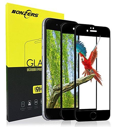 Panzerglas Schutzfolie für iPhone 7 iPhone 8, 2 Stück Ultra-klar 3D Vollständige Abdeckung 9H Härtegrad 4,7 Zoll 3D Panzerglasfolie Displayschutzfolie für iPhone 7 iPhone 8(Schwarz)
