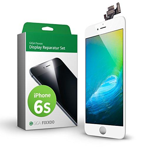 GIGA Fixxoo iPhone 6s Komplettes Display Ersatz Set Weiß, LCD mit TouchScreen, Retina Display, Kamera & Näherungssensor - Einfache Installation für Do-It-Yourself