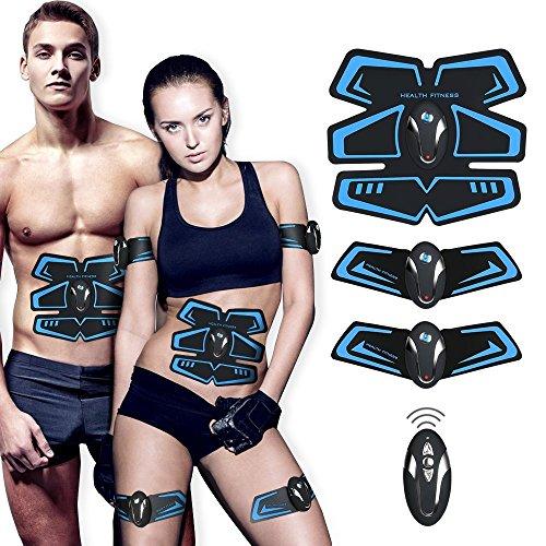 ?Neue Version 2018?Muskelstimulation,EMS Training Muskelstimulator Elektroden Pads für Muskelaufbau zu Hause, Muskelstimulationsgerät für Herren Damen Geschenk