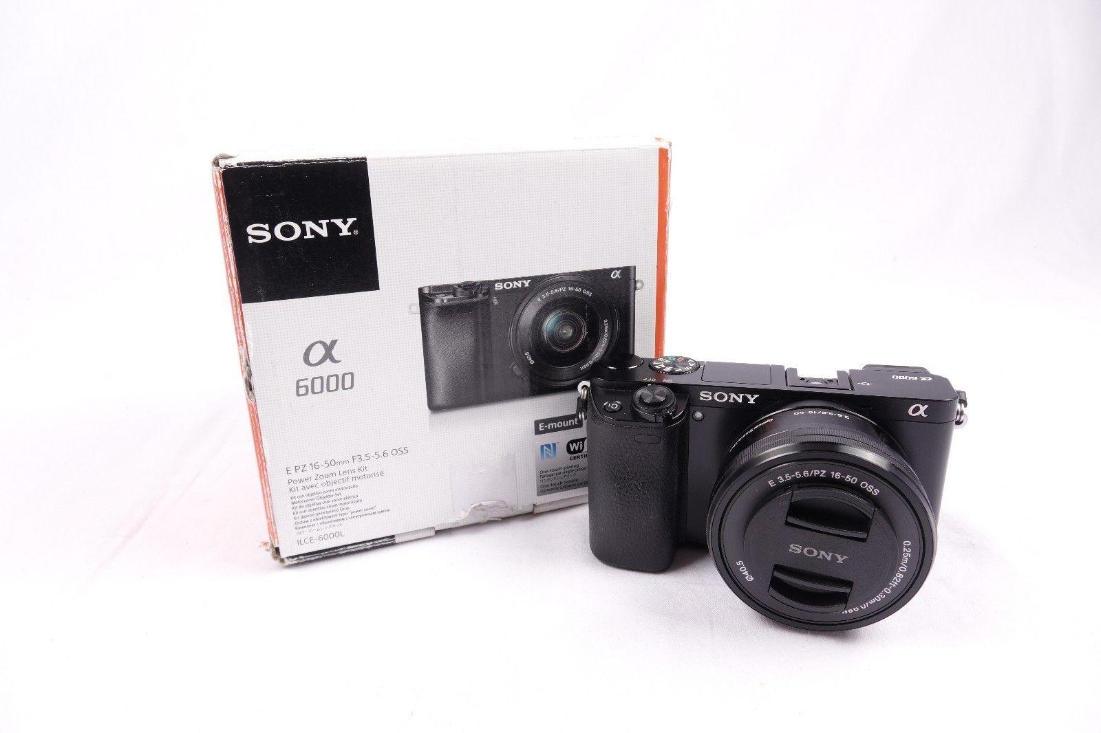Sony Alpha a 6000 SLR-Digitalkamera+E PZ 16-50mm f/3.5-5.6 OSS - sehr gut - MwSt