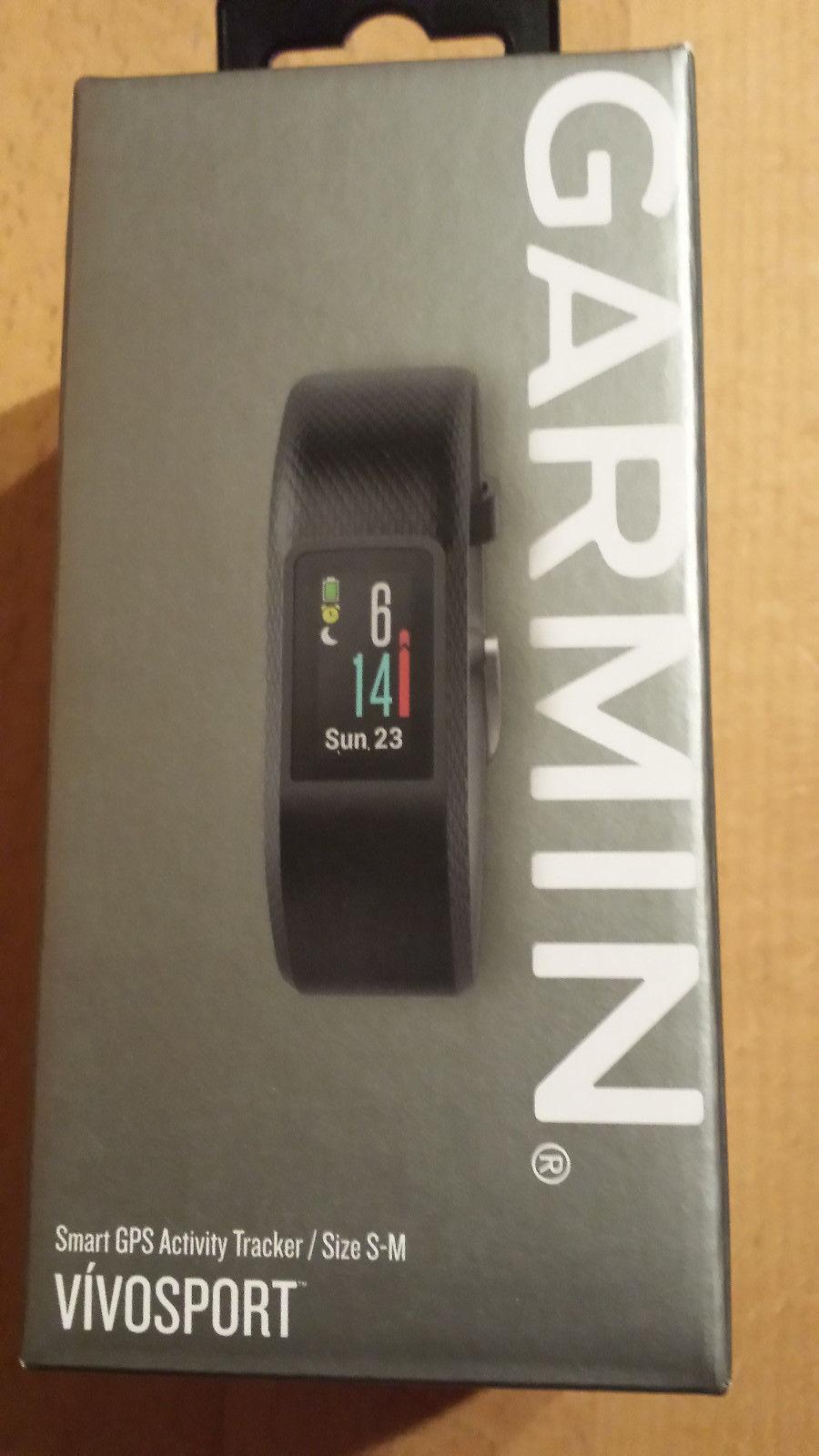 Garmin Vivosport GPS NEU Originalverpackt Ungeöffnet Rechnung Dunkelgrau S/M