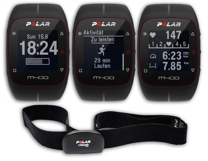 NEU und OVP -POLAR Pulsuhr M400 GPS inklusive Brustgurt in schwarz