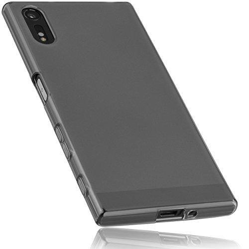mumbi Schutzhülle für Sony Xperia XZ / XZs Hülle transparent schwarz