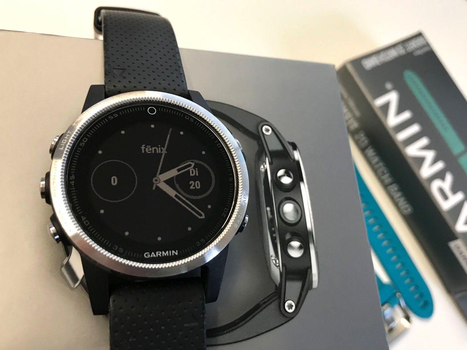 Garmin f?nix 5S GPS-Multisport-Smartwatch - schwarz - TOP Zustand