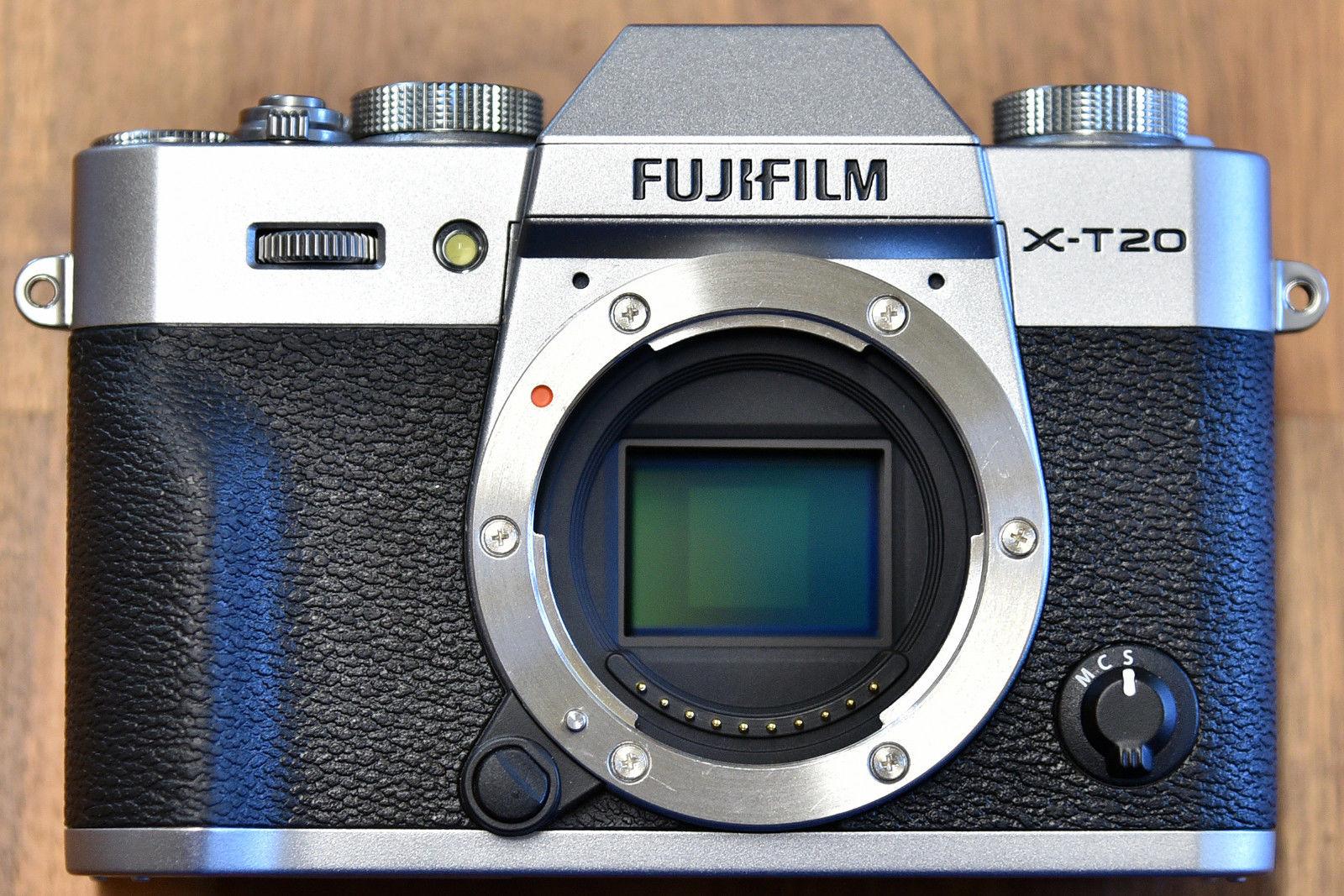 Fujifilm X-T20 body silber mirrorless, 4k video, mit BLC-XT10, Auslösungen: 1800