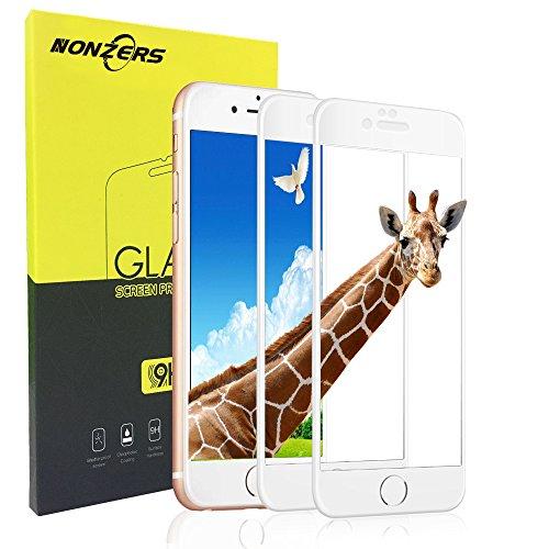 Panzerglas Schutzfolie für iPhone 7 iPhone 8, 2 Stück Ultra-klar 3D Vollständige Abdeckung 9H Härtegrad 4,7 Zoll 3D Panzerglasfolie Displayschutzfolie für iPhone 7 iPhone 8(Weiß)